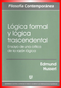 Lógica formal e transcendental Fenomenologia