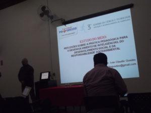 Estudo do Meio. Palestra na Semcitec - Guarulhos-SP