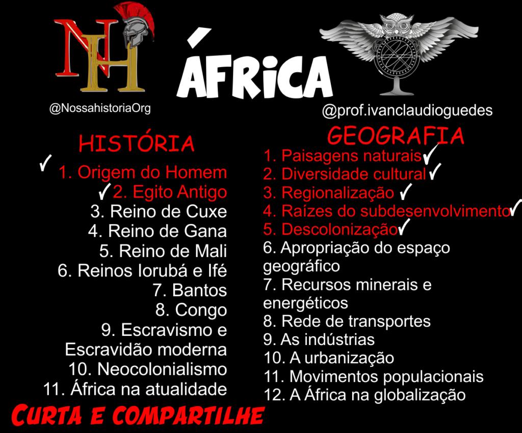 Planejamento africanidades História e Geografia