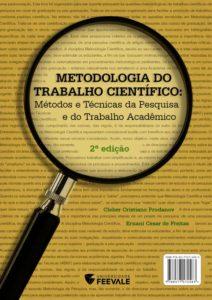Metodologia do Trabalho Científico de Prodanov e Freitas. Clique na imagem para baixar o livro em pdf